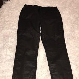 GAP factory leather pants